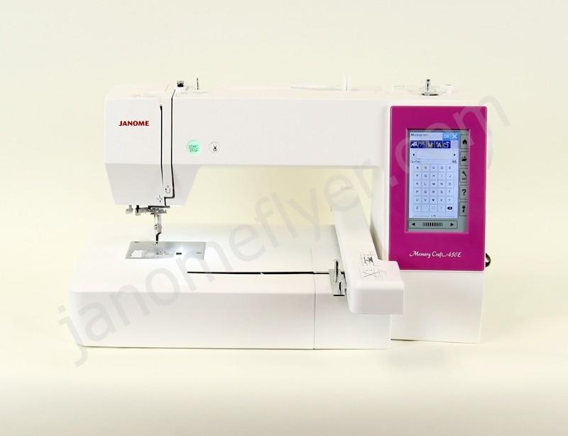 Janome 450e embroidery machine