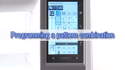 programming a pattern combination on janome 9400