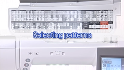 selecting patterns on janome 9400