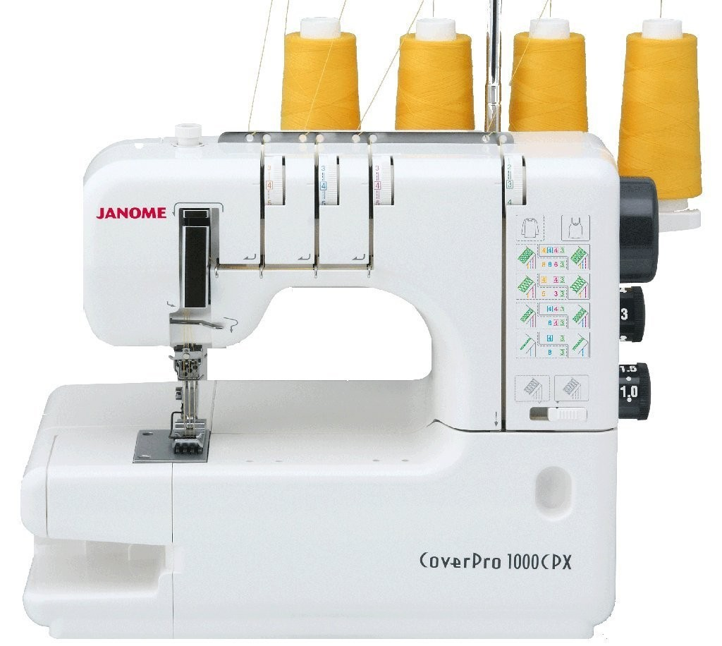 SAVE 30% Janome 1000CPX CoverPro 2 - 3 & 4 Thread CoverStitch