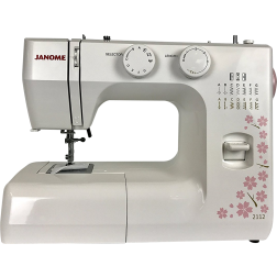 SAVE 50% Janome 2112 Cherry Blossom Easy-to-Use Sewing Machine with 12 Stitches